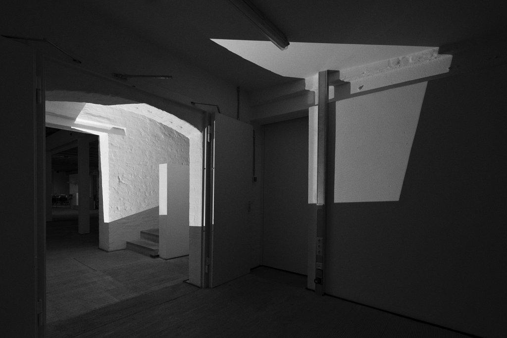 raumskizze (künstlerhaus freising), florian lechner, 2015